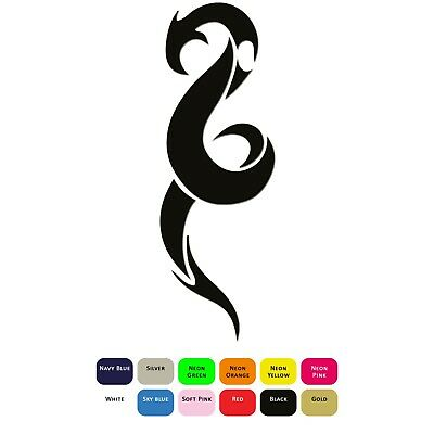 Tribal Chinese Dragon Iron On T-Shirt Clothing Transfer Sticker Decal 12 Colours