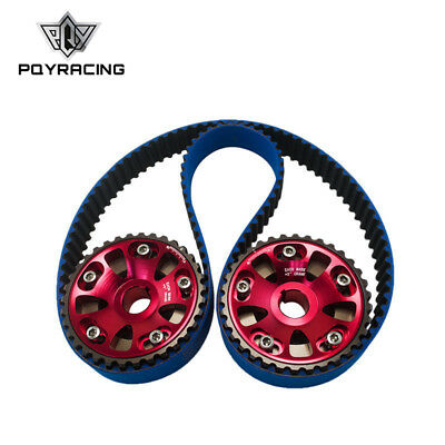HNBR Racing Timing Belt Blue+Aluminum Cam Gear Red FOR B18C Integra GSR / Type-R