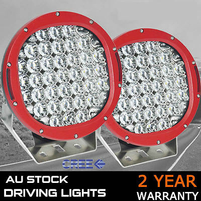 PAIR 9inch 11800W NEW CREE LED Work Driving Lights Spot light Offroad HID