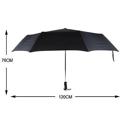 Folding Double Layer Umbrella Three Folding Automatic Compact Golf-Size Umbrella