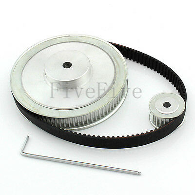 HTD 5M 80/20 Tooth Width 16mm Timing Pulley Belt set kit Reduction Ratio 4:1