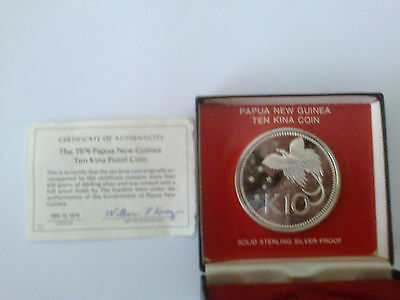 Papua New Guinea 10 Kina Proof Coin 1976 Franklin Mint