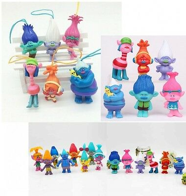 Dreamworks Movie Trolls 6cm PVC Action Figures 6 Pcs Set Toys For Kids 2016 New