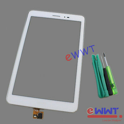 LCD Touch Screen w/ Frame White+Tools for Huawei MediaPad T1 8.0 S8-701U ZVLT688