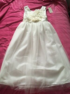 💖Next Girls Ivory Bridesmaid Dress Size 12 Yrs Brand New With Tags!!💖