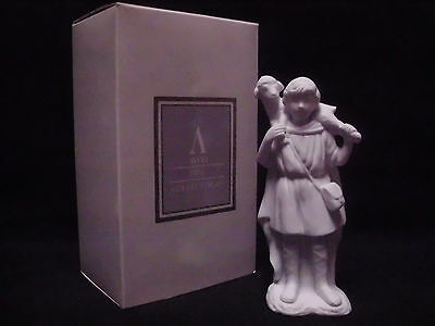 Avon Nativity Collectibles SHEPHERD WITH LAMB White Porcelain Bisque Figurine