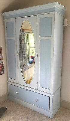 Wardrobe / Armoire. Chabby Chic - Painted Blue --BARGAIN--