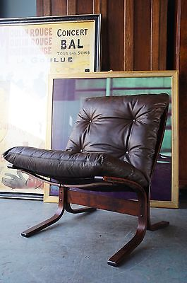 Mid Century Norway Brown Leather Siesta Chairs Ingmar Relling COURIER No. GIVEN
