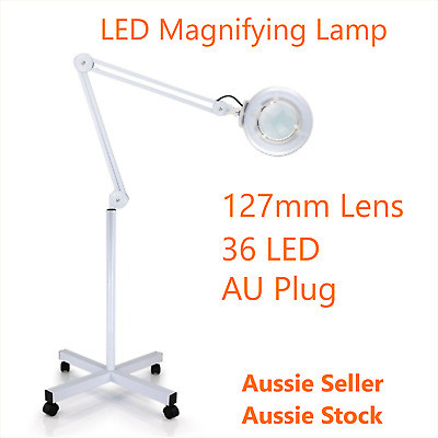 LED Magnifying Lamp AU Plug  5 X Beauty Skin Care Stand Magnification Lens