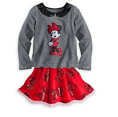 Disney Minnie Mouse Top and Tutu Set for girls 5-6 years