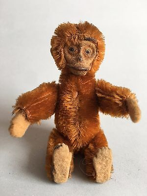 Antique Schuco Monkey tiniature Jointed Mohair Perfume Bottle Inside
