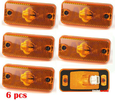 6 x Orange Side Marker Lights Amber Lamps for IVECO DAILY 2000> E4 Marked