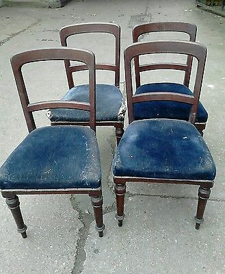 Set of 4 x Vintage old chairs for reupholstery