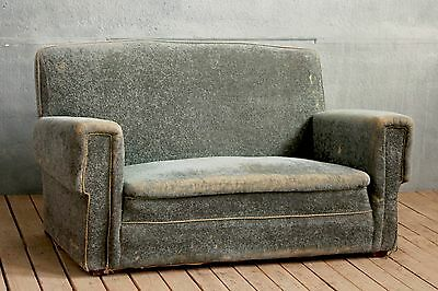 Vintage Retro 50s Two Seater Sofa Daybed Couch Settee Chaise Lounge Upholstery