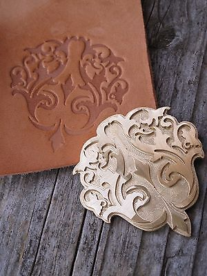 FLORAL Center Leather Bookbinding Finishing tool Stamp EMBOSSING Letterpress