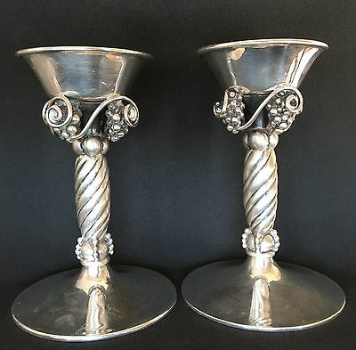 2 Candle Holder Mexican 7 Eagle Mark Bernice Goodspeed Avan Silver Sterling