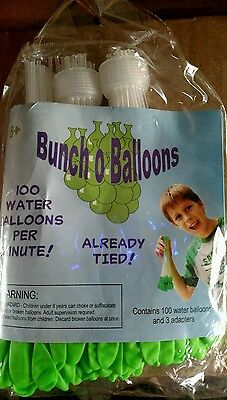 Bunchoballoons 200 water balloons with adapter new
