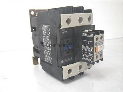 LC1 D8011 LC1D8011 Telemecanique Contactor w/ LA1 DN 11 Auxiliary Contact (Used)