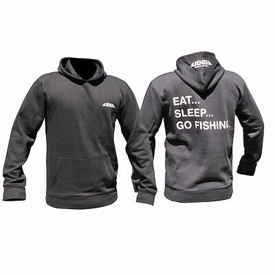 Jenzi Angel Sweatshirt Eat-Sleep-Go Fishing Sweat-shirt unterschiedliche Größen