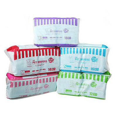 New Comfy Pet Disposable Dog Doggy Diaper Diapers Nappy  Sanitary pants XS-XL
