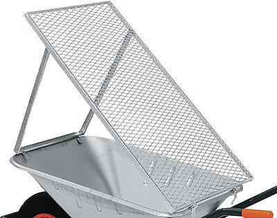 Wheelbarrows sieve pushcarts impact printing Galvanised 100x60cm Seven Garden