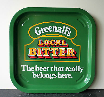 GREENALLS LOCAL BITTER Vintage Advertising Pub Bar Beer tray Retro