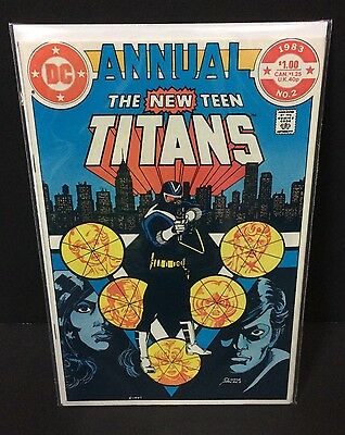 NEW TEEN TITANS ANNUAL #2 1st Appearance CHESHIRE DC Comics Perez 1982 FN/VF