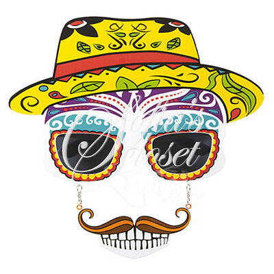 Sunglasses Sombrero Mustache Halloween Day of the Dead Mexican Spanish Theme