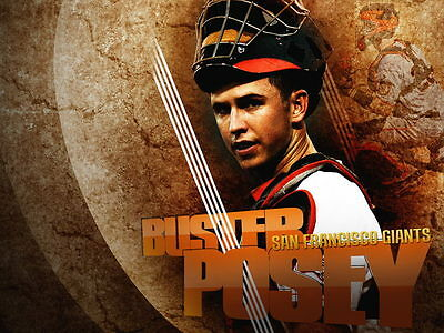 Buster Posey San Francisco Giants Painting Huge Giant Wall Print POSTER