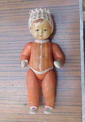 Antique Vintage Native Russian Celluloid Girl Doll Toy