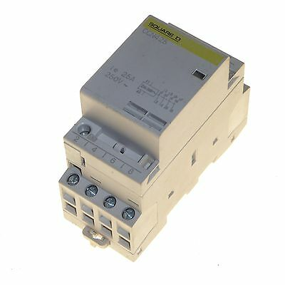 25 amp 4 pole contactor 230 / 240V coil normally open 16kW Square D CCN425