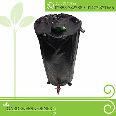 750L Flexi Collapsible Litre Hydroponics Tank Fold Up Water Butt Storage UK