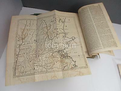 June 1775 Original Gentlemans Magazine W/2 Maps 100 Miles Around Boston