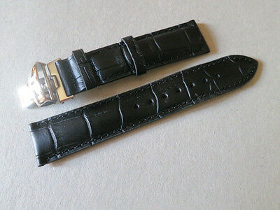 19mm Black Watch Leather Band Strap For Tissot