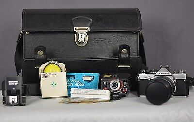 OLYMPUS OM-2 SLR Camera With Accessories
