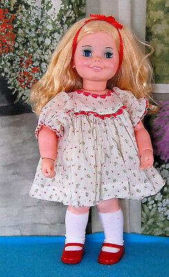 Vintage 1971 KENNER CRUMPET DOLL - Pull String and Battery Operated WORKS