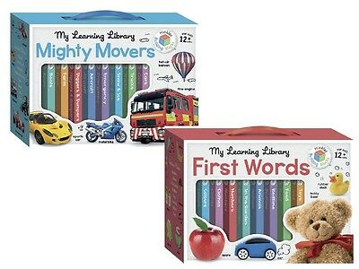 Set of 8 books HINKLER My Learning Library First Words Animals Mighty Movers