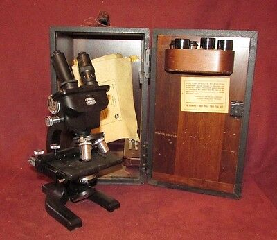 Old or Antique Spencer Binocular Microscope stamped Buffalo NY