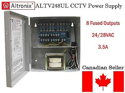 Altronix Corp. ALTV248UL CCTV Power Supply Box cUL listed 24VAC or 28VAC