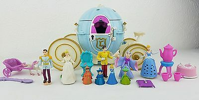 polly pocket Disney Cinderella's  Carriage with Figures Accessories 1999