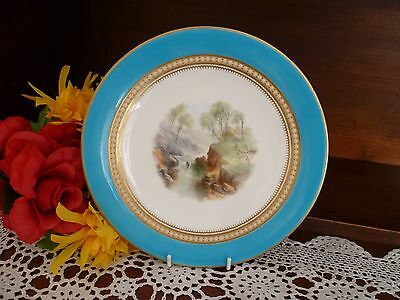 Stunning Hand Painted And Jewelled Cabinet Plate ? Worcester / Wedgwood...