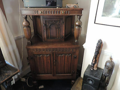 REPRODUCTION MONKS CABINET SOLID OAK hand built in the 1930's/early 40's