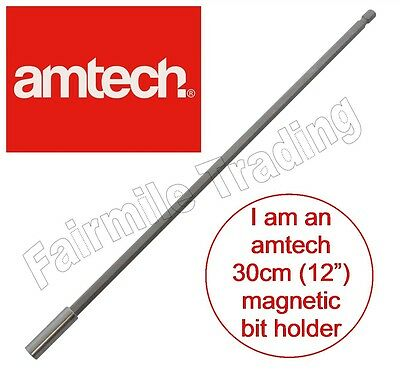 """Magnetic Screwdriver Bit Holder 300mm 12"""" Extra Long 1/4"""" Hex Extension Drill"""