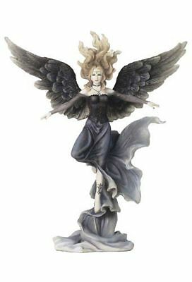 12.75 Inch Gothic Angel on One Toe Dark Fallen Fairy Girl Lady Statue Fantasy