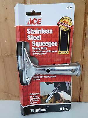 "8"" Window/Glass Cleaning Squeegee ~ Stainless Steel ~ New ~ Free Shipping"