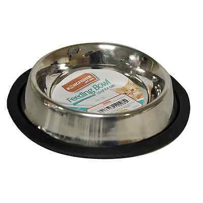 Non Slip 15 cm Stainless Steel Cat Puppy Dog Pet Bowl Dish Water Food Feeding UK