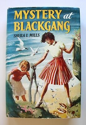Mystery at Blackgang 1957 Shiela Mills Hardcover Dust Jacket Frederick Warne