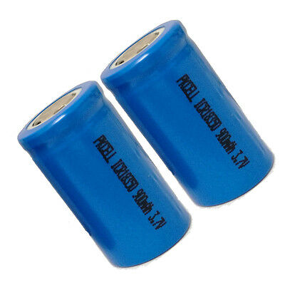 2 x ICR 18350 900mAh 3.7V Li-ion Rechargeable Battery PKCELL