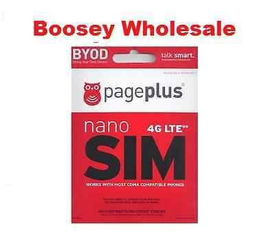 Page Plus 4G LTE Nano Sim Card - For iPhone 5, 5c, 5s, 6, and 6+