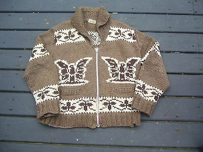 Cowichan Style Native Indian Sweater Adult Med/Lg